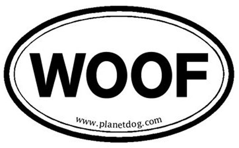 Planet Dog  Euro Sticker - WOOF