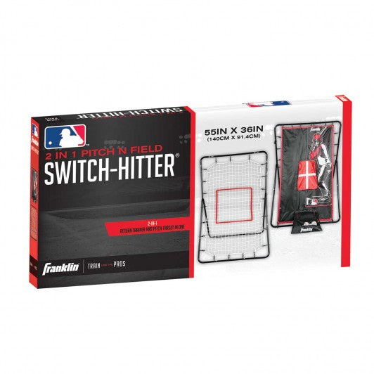 FRANKLIN MLB SWITCH-HITTER PITCHING TARGET AND RETURN NET - 55""