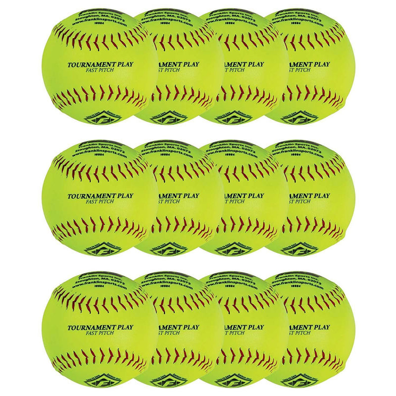 "Franklin 12"" FASTPITCH SOFTBALLS - 12 PACK"