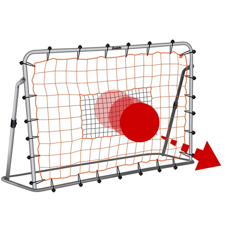 Franklin ADJUSTABLE SOCCER REBOUNDER WITH STAKES - STEEL - 6' X 4'