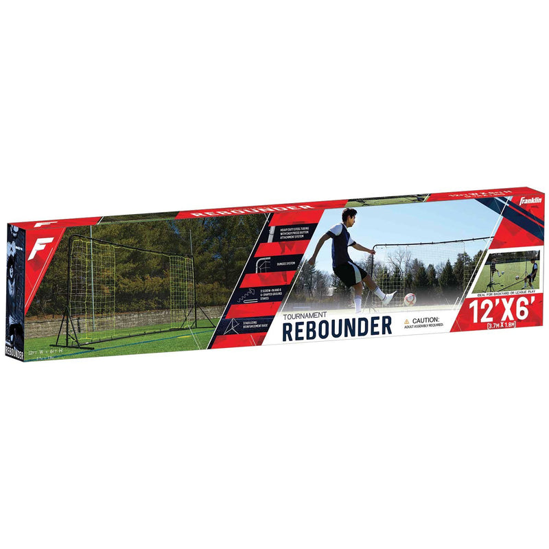 Franklin HEAVY DUTY STEEL SOCCER REBOUNDER WITH GROUND STAKES - 12' X 6'