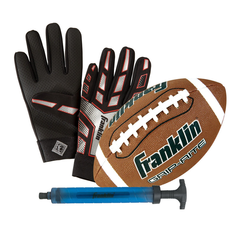 Franklin JUNIOR FOOTBALL AND RECEIVER GLOVE SET