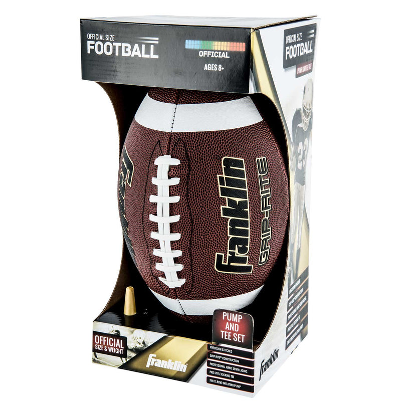 Franklin JUNIOR GRIP-RITE PUMP AND TEE FOOTBALL SET