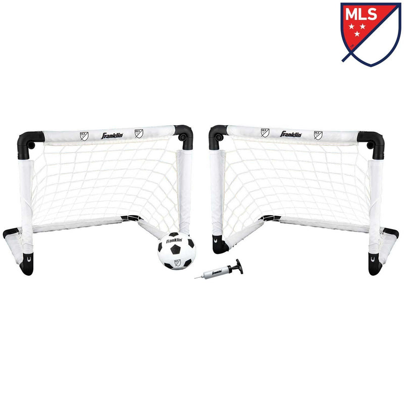Franklin KIDS INDOOR SOCCER MLS® GOALS AND BALL SET WITH BALL PUMP AND NEEDLE