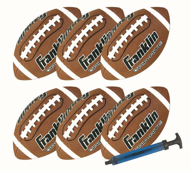 Franklin OFFICIAL SIZE GRIP RITE® FOOTBALL 6 PACK