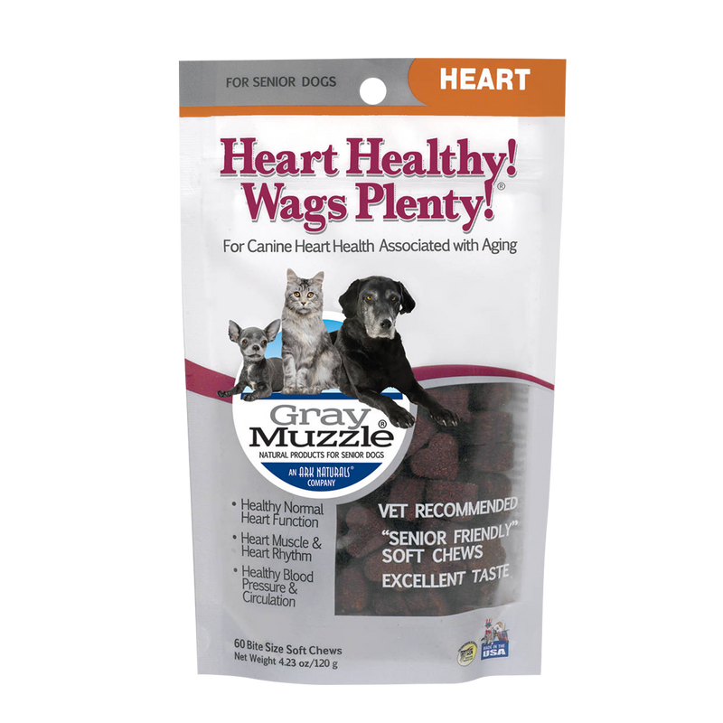 Ark Naturals Gray Muzzle Heart Healthy! Wags Plenty! Dog Treats