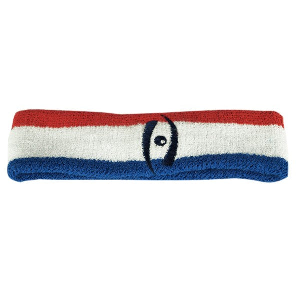 Harrow Icon Icon Striped Headband Red White Blue Navy Icon