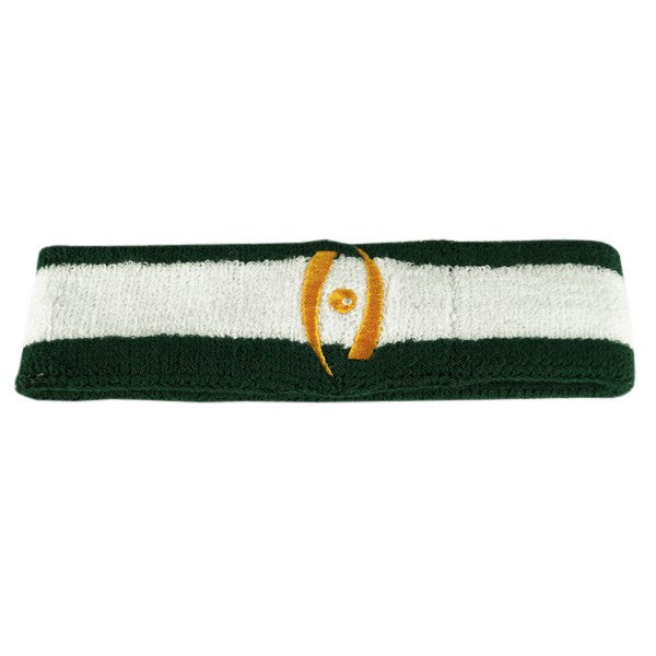 Harrow Icon Striped Headband Forest White Forest Athletic Gold Icon