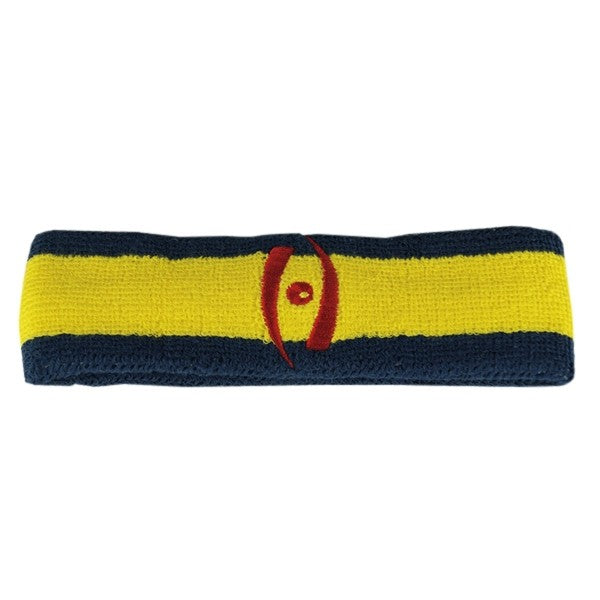Harrow Icon Striped Headband Navy Yellow Navy Red Icon