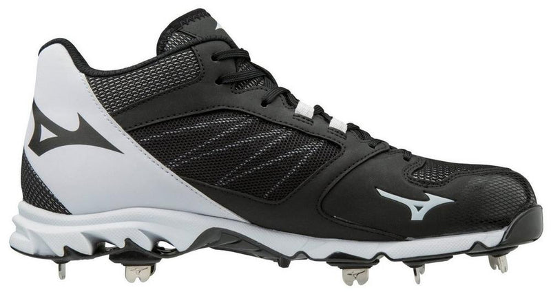 MIZUNO 9-SPIKE DOMINANT IC MID MENS METAL BASEBALL CLEAT