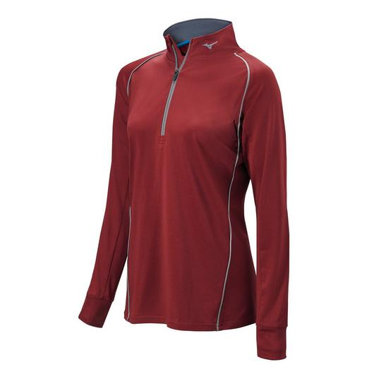 Mizuno Girl's Comp 1/2 Zip Long Sleeve Pullover