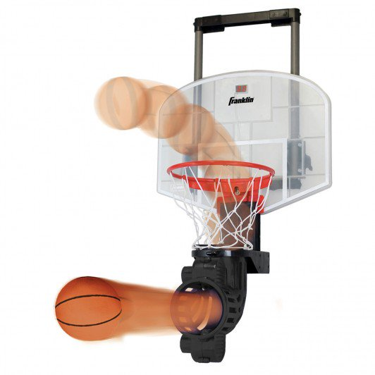 FRANKLIN OVER-THE-DOOR MINI HOOP WITH REBOUNDER AND BALL