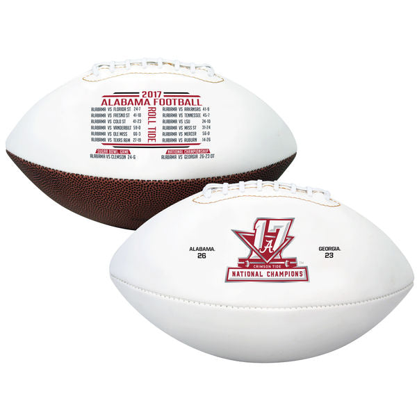 Rawlings 2017 College Football National Champions Alabama Crimson Tide Full Sized Football