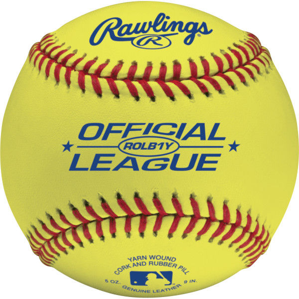 Rawlings Official League Yellow Baseballs
