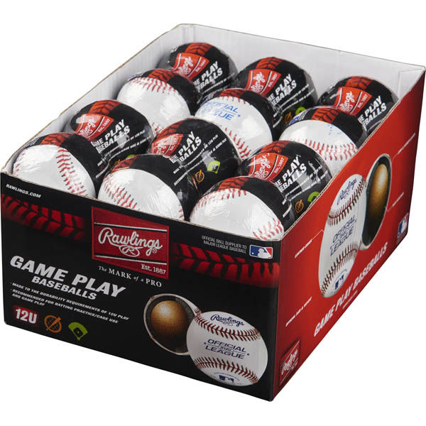 Rawlings 24 Pack Youth 12U Game Play Baseballs