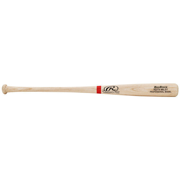Rawlings Adult Natural/Scarlet Custom Bat