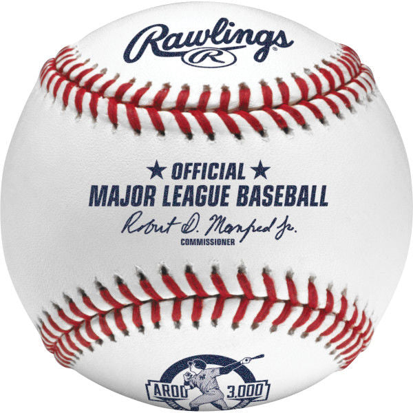 Rawlings MLB 2015 Alex Rodriguez 3000 Career Hits Baseball