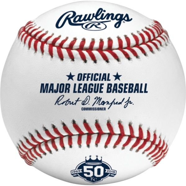 Rawlings MLB 2018 Kansas City Royals 50th Anniversary Baseball