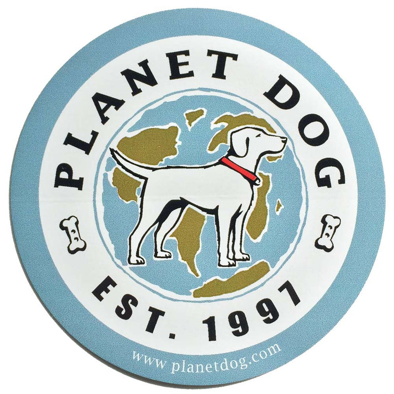Planet Dog  Round Planet Dog Logo Sticker
