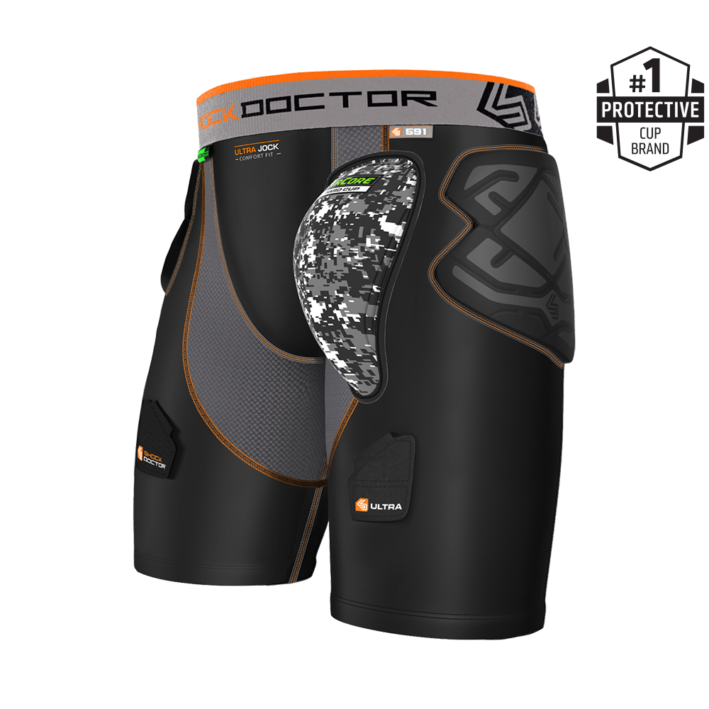 Shock Doctor 591 Ultra ShockSkin Hockey Short w/AirCore™ Hard Cup