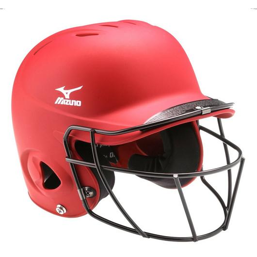 Mizuno Prospect Solid Youth Batting Helmet with Fastpitch Wire Mask
