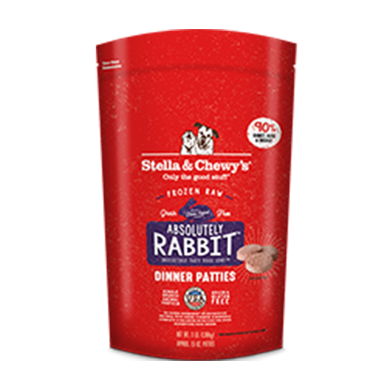 Stella and Chewy's Absolutely Rabbit Frozen 1.5 oz. Raw Dinner Patties