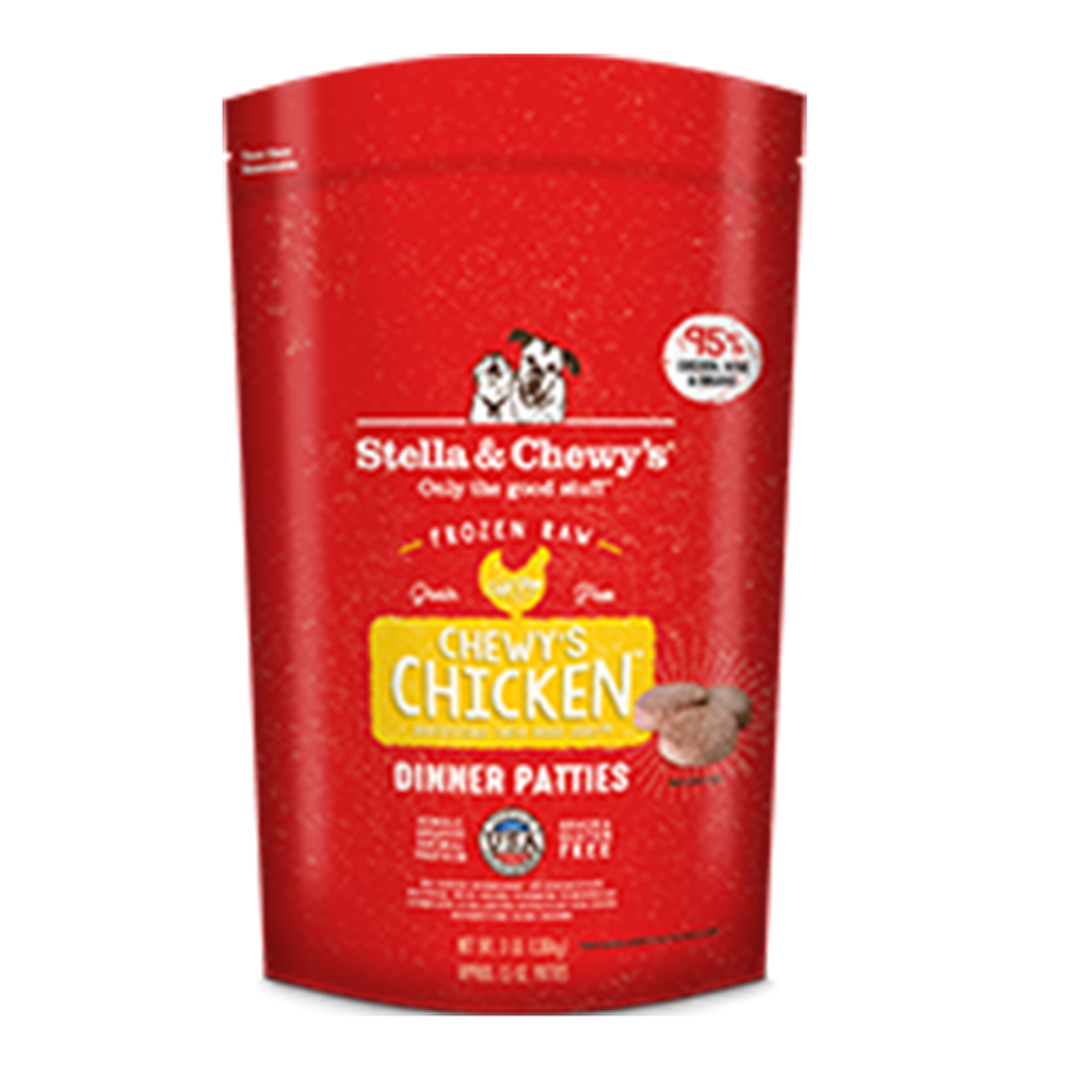 Stella and Chewy's Chewy's Chicken Frozen 1.5 oz. Raw Dinner Patties
