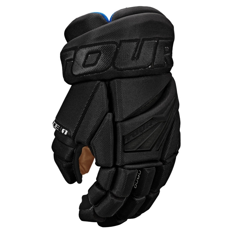 Tour Code 1 Hockey Gloves Black/Black