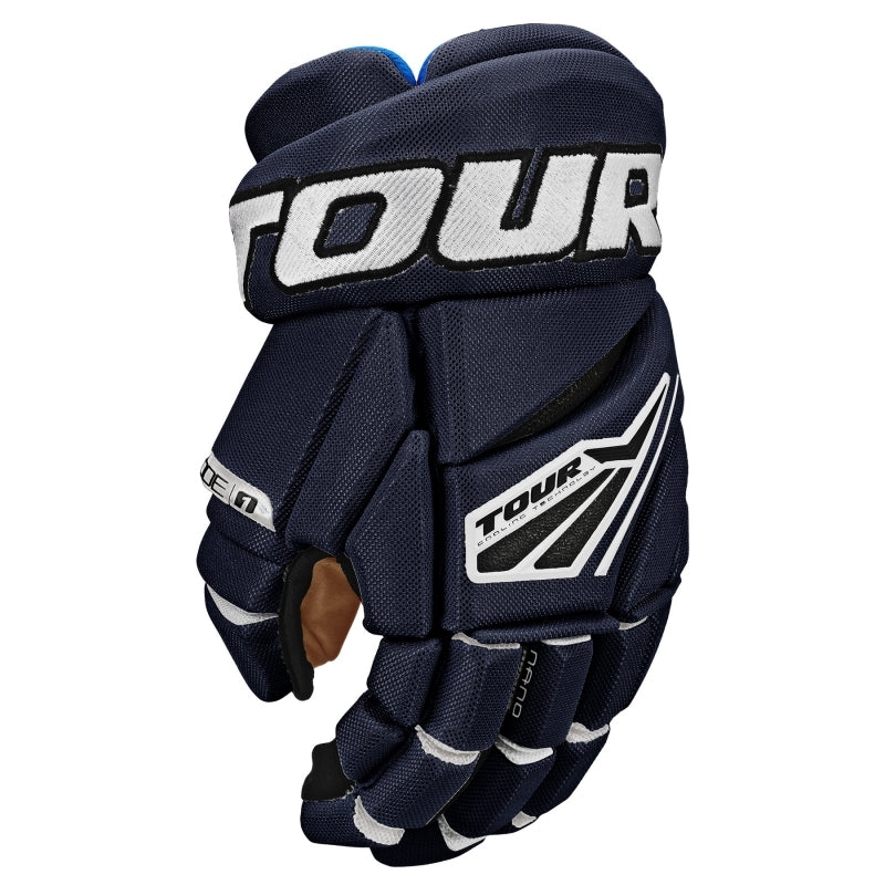 Tour Code 1 Hockey Gloves Blue/White