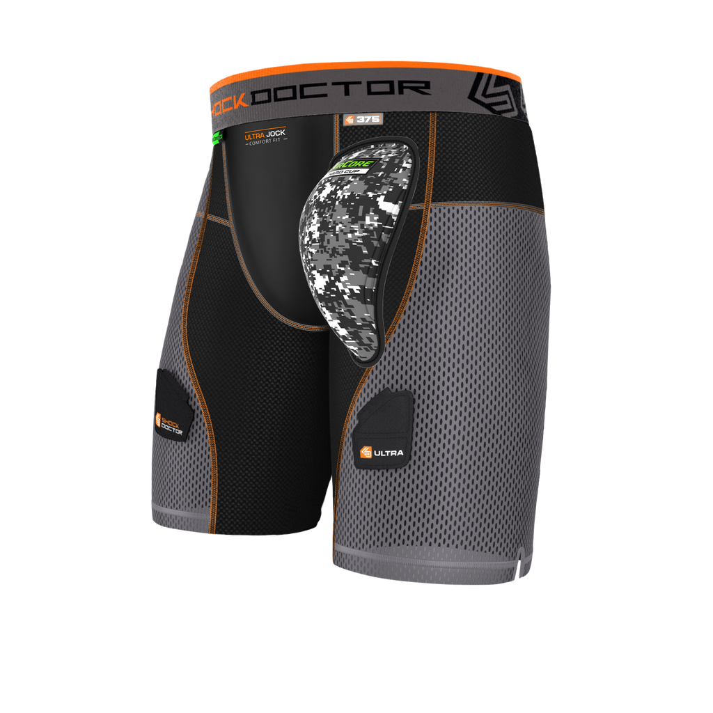 Shock Doctor 375 Ultra PowerStride Hockey Short w/AirCore™ Hard Cup