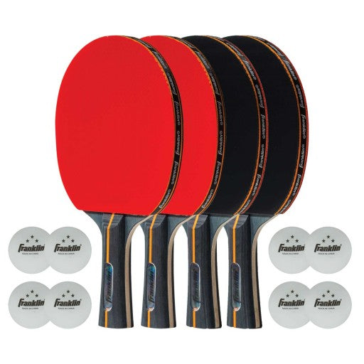 FRANKLIN ELITE PRO CARBON CORE PADDLE 4 PLAYER SET
