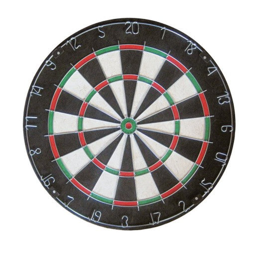 FRANKLIN BRISTLE DARTBOARD WITH STEEL NUMBERS AND WIRE