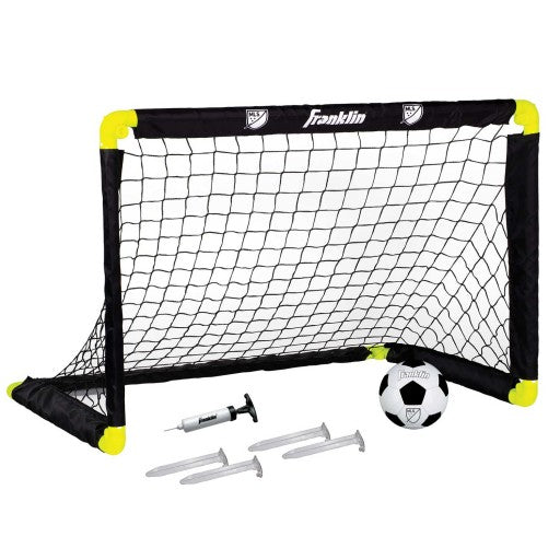 FRANKLIN MLS® INST-SET® GOAL SET WITH BALL, PUMP, AND STAKES