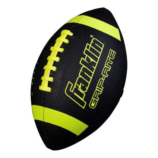 FRANKLIN GRIP-RITE® JUNIOR SIZE FOOTBALL BLACK/OPTIC YELLOW