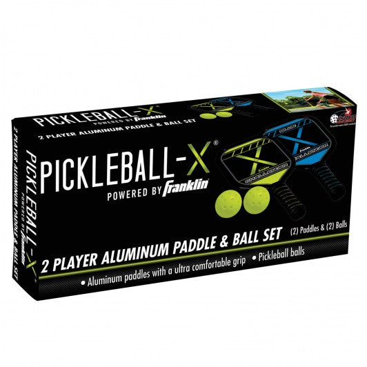 FRANKLIN PICKLEBALL SET - 2 PLAYER PICKLEBALL PADDLE AND BALL SET