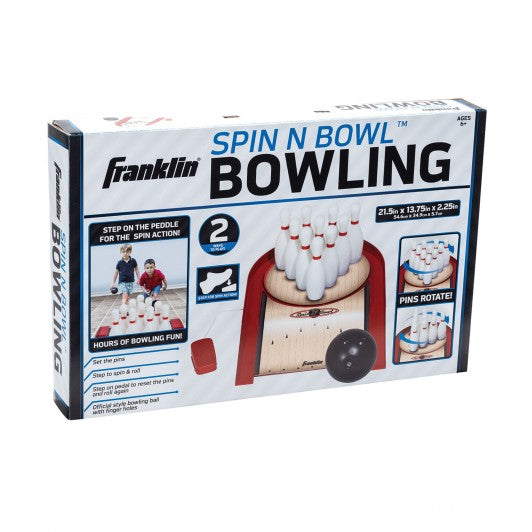 FRANKLIN KIDS INDOOR SPIN N BOWL BOWLING SET