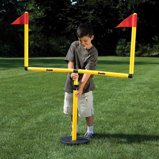 FRANKLIN YOUTH FOOTBALL GOAL POST, BALL AND TEE