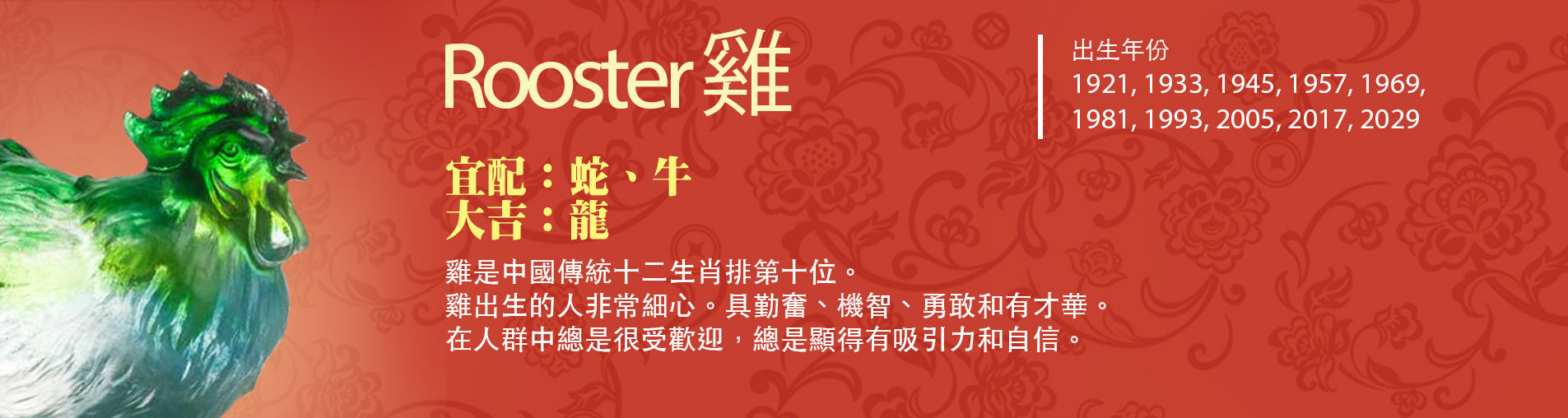 Year of the Rooster | Chinese Zodiac Artwork