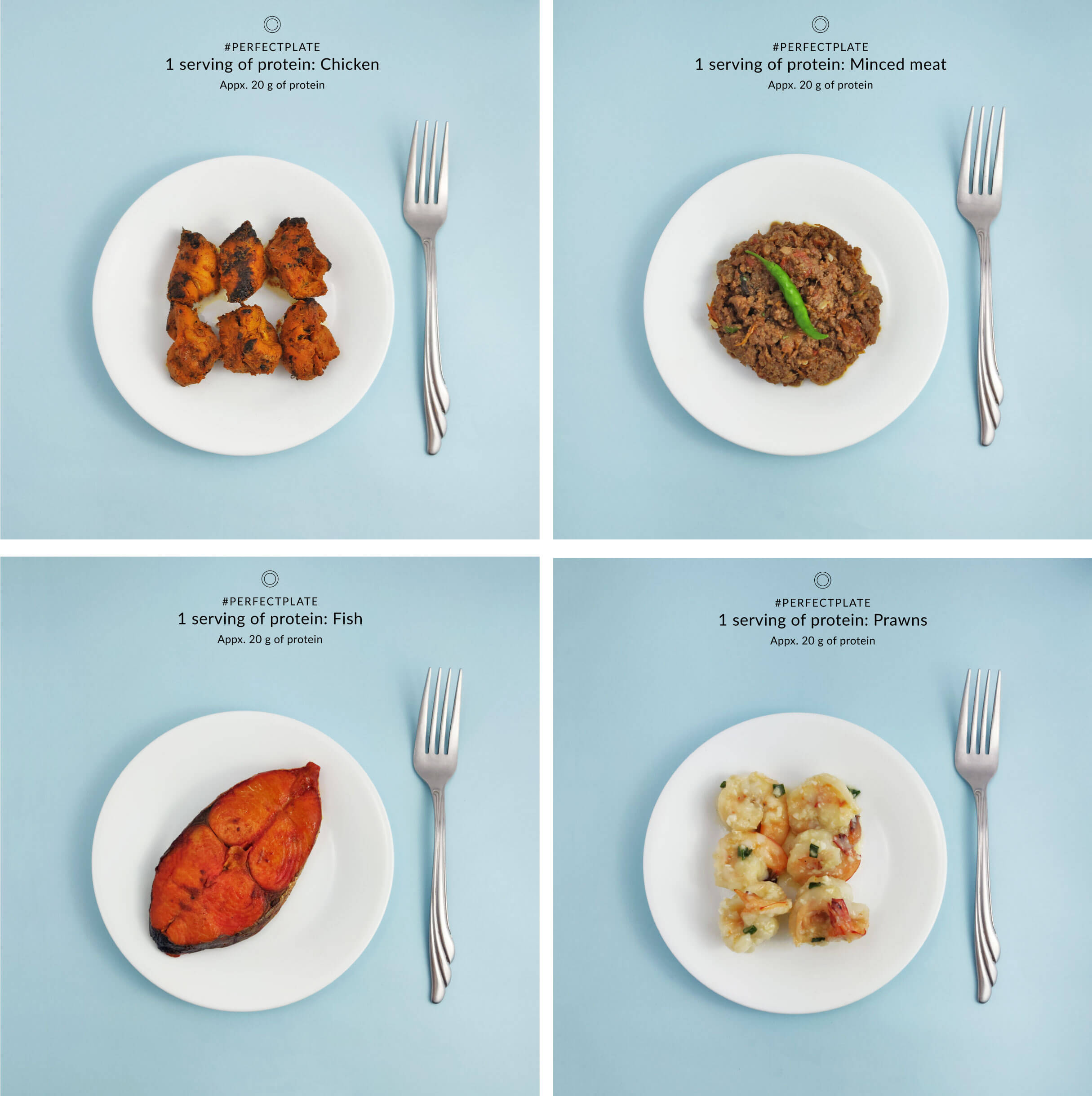 Non vegetarian food portions
