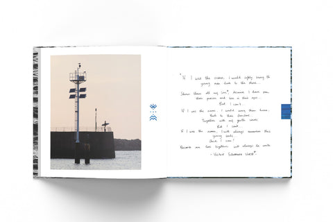 Mockup of the memorial book behing a white background
