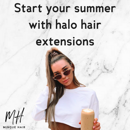 Start your sumer with halo hair extensions