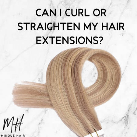 Can I curl or straighten my hair extensions?