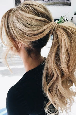 best quality hair extensions for long and thick hair | ponytail clip in hair extensions | ponytail hair styles