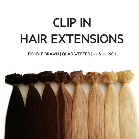 Clip-in hair extensions are among Minque Hair's top wholesale hair extensions products.