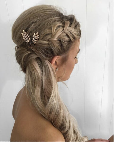 The Greek goddess hairstyle is one of the prettiest wedding hairstyles you can do with your weave weft hair extensions.