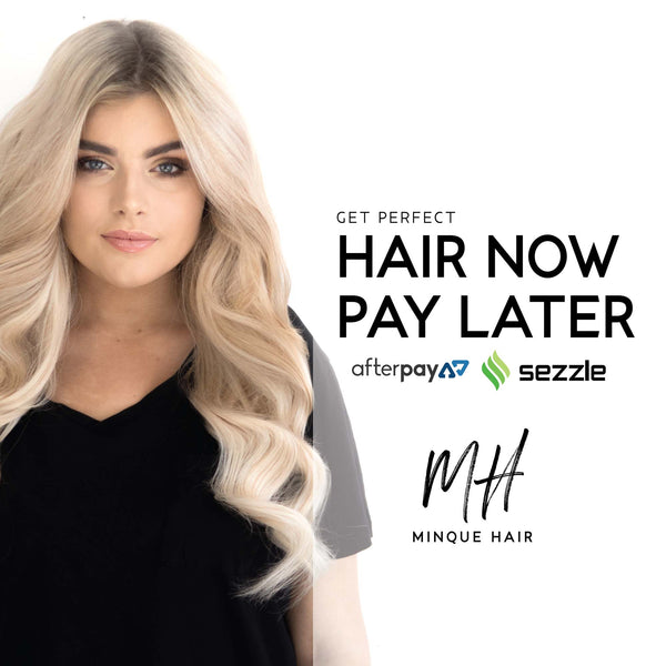 Hair Extensions using Afterpay Sezzle and Zippay