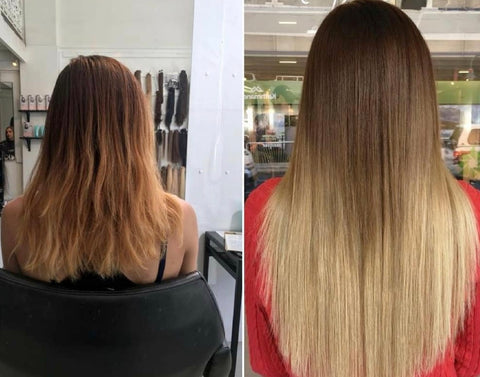 best remy hair extensions available online | best quality tape hair extensions | balayage hair extensions for long hair