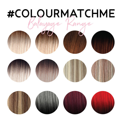 Hair extension colour range