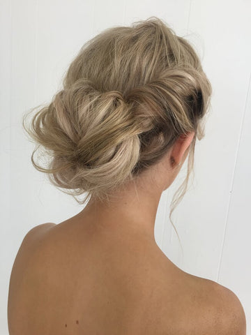 The messy bun is one of the easiest hairstyles that you do with your Minque halo hair extensions.