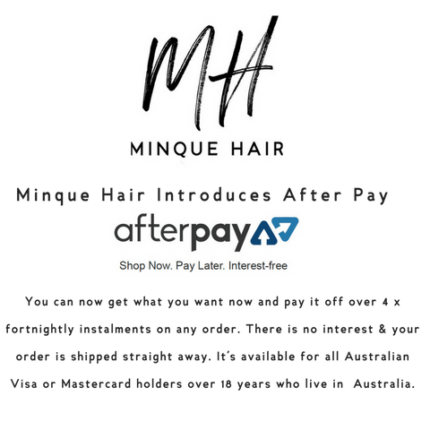 Minque Hair Extensions using After pay
